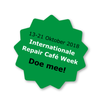 13-21 Oktober: Internationale Repair Café Week 2018